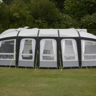The Kampa Frontier Air Pro 400 Awning is Sold by Devon Outdoor and The Camping and Kite Centre.