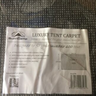 The Sunncamp Invadair 600 Carpet is Sold by Devon Outdoor and The Camping and Kite Centre.