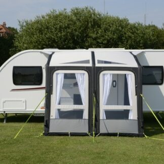 The Kampa Rally Air Pro 260 Awning is Sold by Devon Outdoor and The Camping and Kite Centre.