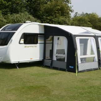 The Kampa Rally Air Pro 390 Awning is Sold by Devon Outdoor and The Camping and Kite Centre.