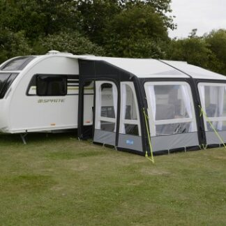 The Kampa Rally Air Pro Grande 390 is Sold by Devon Outdoor and The Camping and Kite Centre.