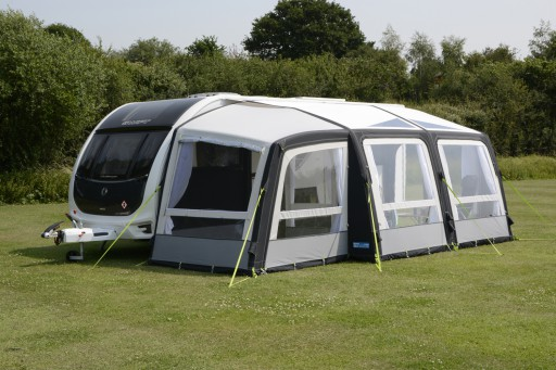 The Kampa Rally Air Pro 390 Plus Left is Sold by Devon Outdoor and The Camping and Kite Centre.