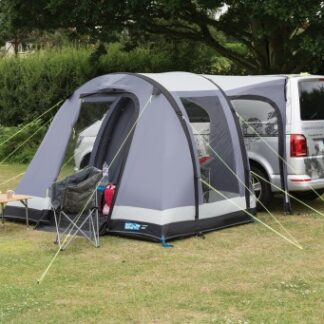 The Kampa Travel Pod Trip Air Driveaway Awning is Sold by Devon Outdoor and The Camping and Kite Centre,