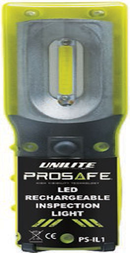 The Unilite Prosafe LED Rechargeable Inspection Light is Sold by Devon Outdoor and The Camping and Kite Centre.