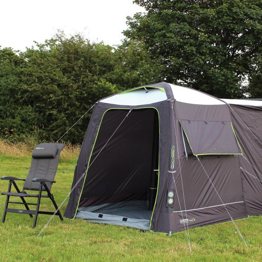 The Outdoor Revolution Movelite Cayman Mini Air Driveaway Awning is Sold by Devon Outdoor and The Camping and Kite Centre.