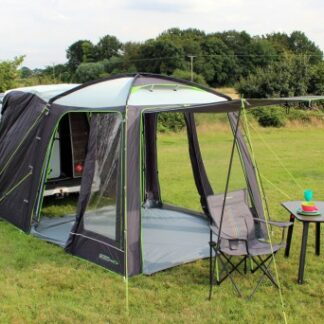 The Outdoor Revolution Movelite Cayman Tail Driveaway Awning 2018 is Sold by Devon Outdoor and The Camping and Kite Centre.