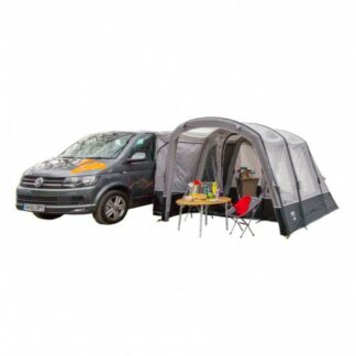 The Vango Galli II Compact Low Driveaway Awning is Sold by Devon Outdoor and The Camping and Kite Centre.