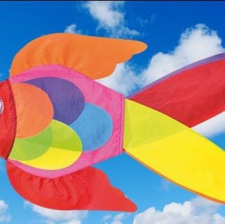 The Spirit of Air Neon Fish Windsock is Sold by Devon Outdoor and The Camping and Kite Centre.