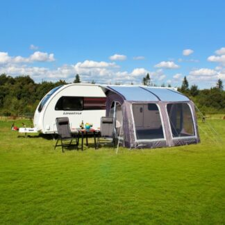 The Outdoor Revolution E-Sport-Air 325 Awning is Sold by Devon Outdoor and The Camping and Kite Centre.
