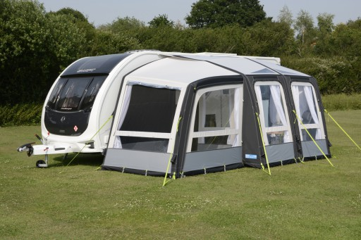 The Kampa Rally Air Pro 260 Plus Left is Sold by Devon Outdoor and The Camping and Kite Centre.
