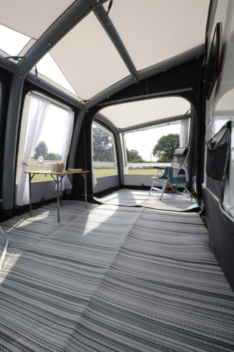 The Kampa Rally Air Pro 260 Plus L/H is Sold by Devon Outdoor and The Camping and Kite Centre.