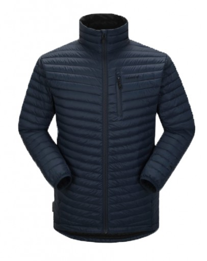 The Skogstad Mens Brekke Down Jacket is Sold by Devon Outdoor and The Camping and Kite Centre.