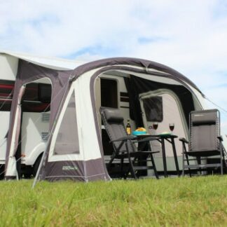 The Outdoor Revolution Elan 340 Awning 2018 is Sold by Devon Outdoor and The Camping and Kite Centre.