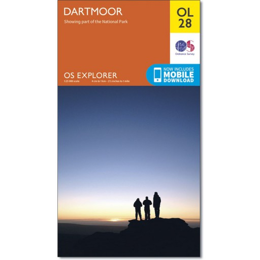 The OS Map No OL28 Dartmoor is Sold by Devon Outdoor and The Camping and Kite Centre,