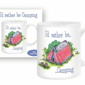 The Otterdene I'd Rather Be Camping Mug is Sold by Devon Outdoor and The Camping and Kite Centre.