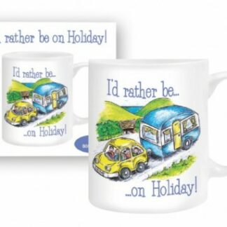 The Otterdene I'd Rather Be On Holiday Mug is Sold by Devon Outdoor and The Camping and Kite Centre.