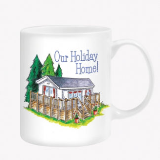 The Otterdene Our Holiday Home Mug is Sold by Devon Outdoor and The Camping and Kite Centre.