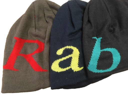 The Rab Logo Beanie is Sold by Devon Outdoor and The Camping and Kite Centre.