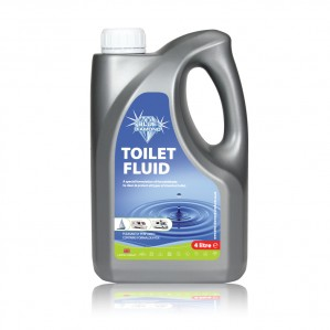 The Blue Diamond 4L Blue Toilet Fluid is Sold by Devon Outdoor and The Camping and Kite Centre.