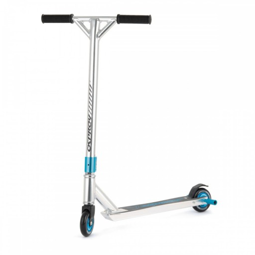 The Osprey Blue Pro Stunt Scooter is Sold by Devon Outdoor and The Camping and Kite Centre.