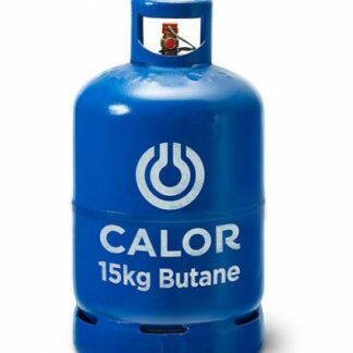 The Calor Butane 15kg Refill is Sold by Devon Outdoor and The Camping and Kite Centre.