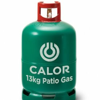 The Calor Patio 13kg Refill is Sold by Devon Outdoor and The Camping and Kite Centre.