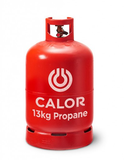 The Calor Propane 13kg Refill is Sold by Devon Outdoor and The Camping and Kite Centre.