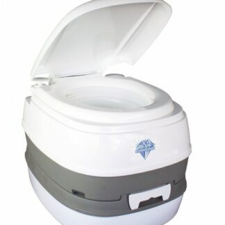 The Blue Diamond Nature Calls Portable Toilet is Sold by Devon Outdoor and The Camping and Kite Centre.