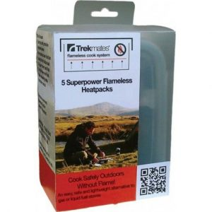 The Trekmates Flameless Cook Heatpacks are Sold by Devon Outdoor and The Camping and Kite Centre.