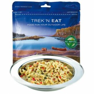 The Trek N Eat Pasta with Salmon Pesto is Sold by Devon Outdoor and The Camping and Kite Centre.