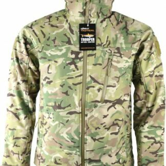 The KombatUK Trooper Soft Shell Jacket is Sold by Devon Outdoor and The Camping and Kite Centre.