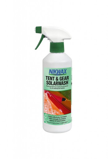 The Nikwax Tent & Gear Solarwash Spray On 500ml is Sold by Devon Outdoor and The Camping and Kite Centre.