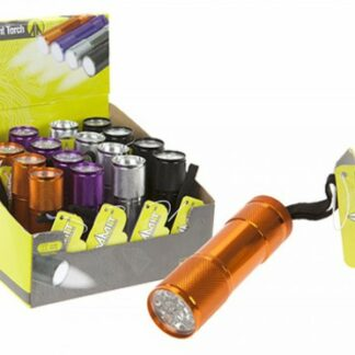 The Summit 9 LED Ultra Bright Torch is Sold by Devon Outdoor and The Camping and Kite Centre.