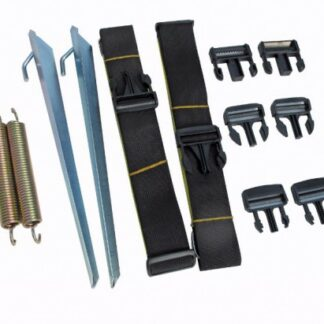 The Kampa Universal Tie Down Kit is Sold by Devon Outdoor and The Camping and Kite Centre.
