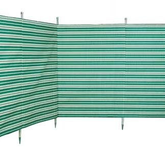 The Blue Diamond 5 Pole Windbreak is Sold by Devon Outdoor and The Camping and Kite Centre.