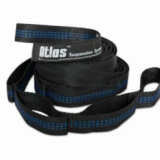 The ENO Hammock Atlas Suspension Straps are Sold by Devon Outdoor and The Camping and Kite Centre.