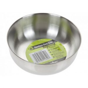 The Summit Stainless Steel Bowl is Sold by Devon Outdoor and The Camping and Kite Centre.