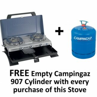 The Campingaz 400ST Double Burner Stove and Toaster is Sold by Devon Outdoor and The Camping and Kite Centre.