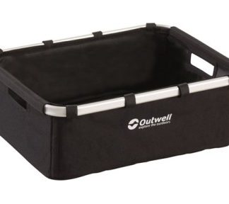The Outwell Folding Storage Basket is Sold by Devon Outdoor and The Camping and Kite Centre.