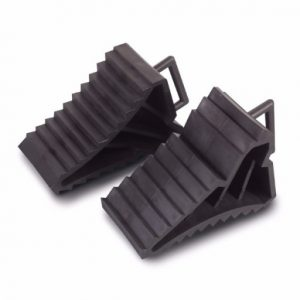 The Kampa Handy Chock - Set of 2 is Sold by Devon Outdoor and The Camping and Kite Centre.