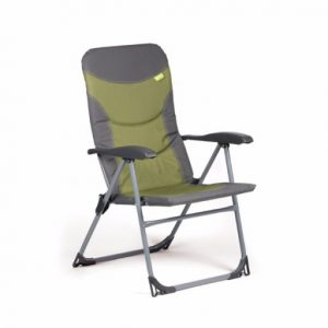 The Kampa Skipper Reclining Armchair is Sold by Devon Outdoor and The Camping and Kite Centre.