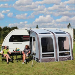 The Outdoor Revolution Elise 260 Caravan Awning is Sold by Devon Outdoor and The Camping and Kite Centre.
