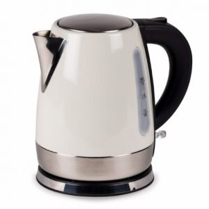 The Kampa Cascade 1L Low Wattage Electric Kettle is Sold by Devon Outdoor and The Camping and Kite Centre.