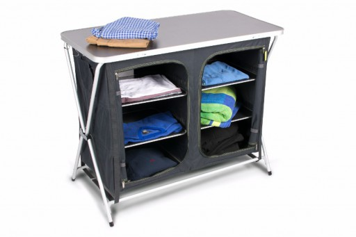 The Kampa Zara Cupboard Xpress is Sold by Devon Outdoor and The Camping and Kite Centre.