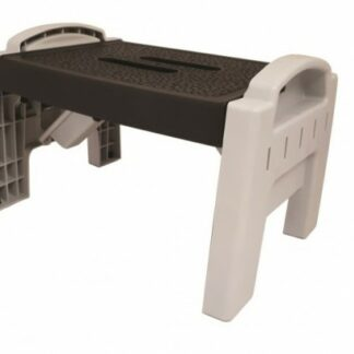 The Sunncamp Foldable Plastic Step is Sold by Devon Outdoor and The Camping and Kite Centre.