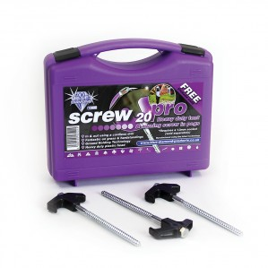 The Blue Diamond Screw Pegs Pro - Box of 20 is Sold by Devon Outdoor and The Camping and Kite Centre.