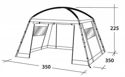 The Outwell Oklahoma Lite DayTent is Sold by Devon Outdoor and The Camping and Kite Centre.