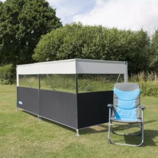 The Kampa Pro Windbreak 3 is Sold by Devon Outdoor and The Camping and Kite Centre.