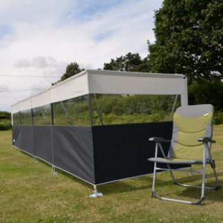 The Kampa Pro Windbreak 5 is Sold by Devon Outdoor and The Camping and Kite Centre.