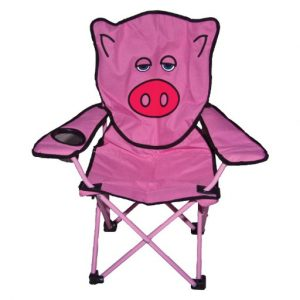 The Quest Childrens Pig Folding Chair is Sold by Devon Outdoor and The Camping and Kite Centre.
